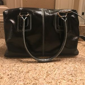 TODS patent leather satchel